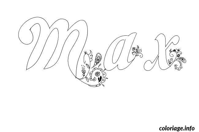 Dessin Max Coloriage Gratuit à Imprimer