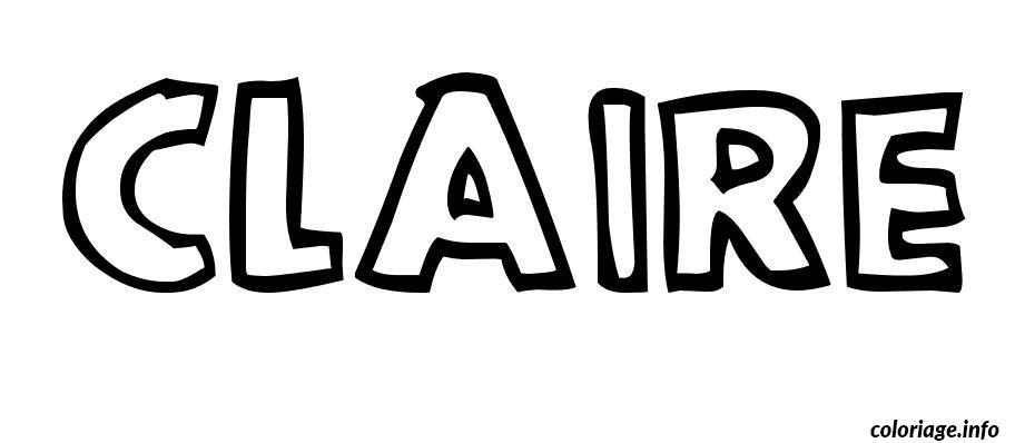 Dessin Claire Coloriage Gratuit à Imprimer