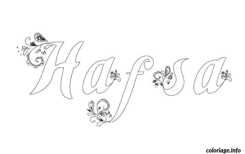 Dessin Hafsa Coloriage Gratuit à Imprimer
