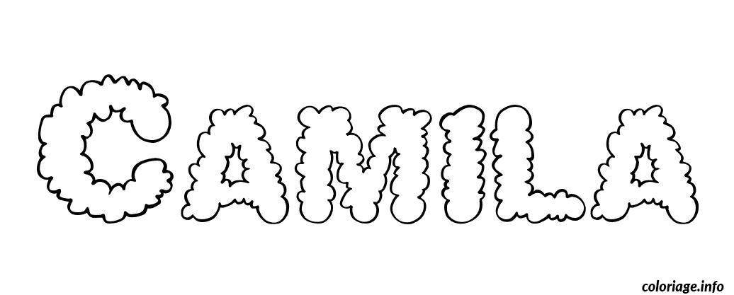 Coloriage camila dessin - Camelia prenom ...