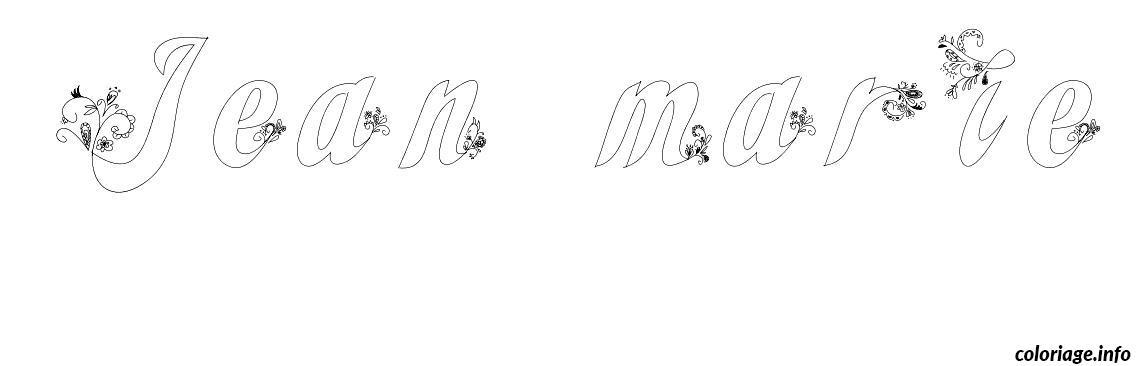 Coloriage jean marie dessin - Coloriage marie ...