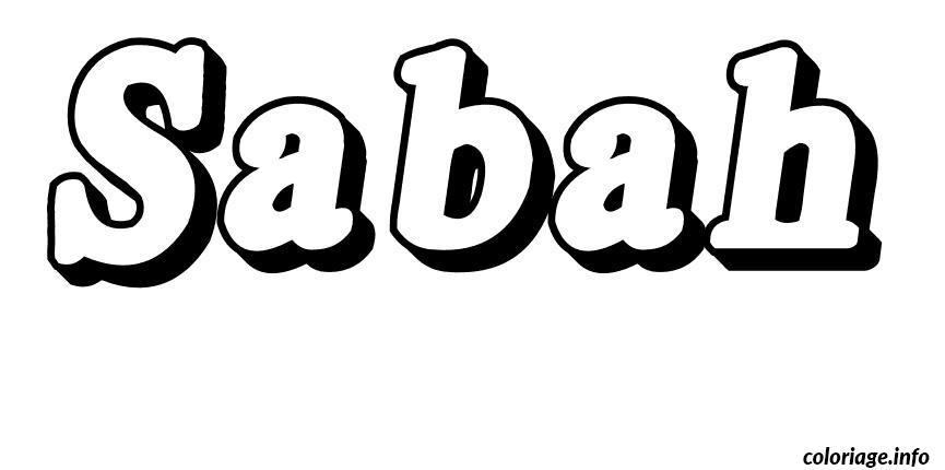 Dessin Sabah Coloriage Gratuit à Imprimer