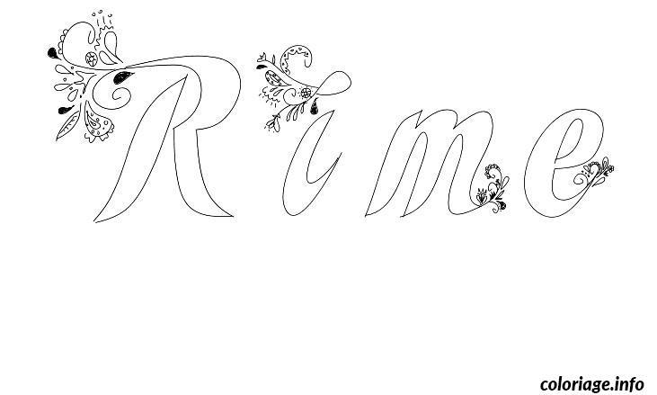 Coloriage rime dessin - Prenom a imprimer ...