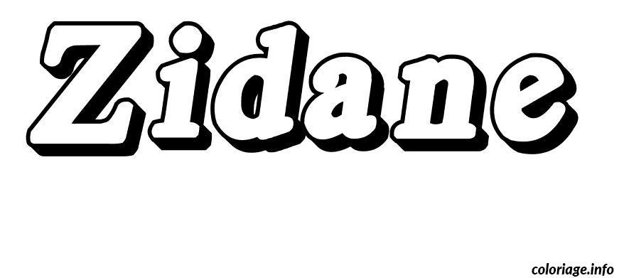 Dessin Zidane Coloriage Gratuit à Imprimer