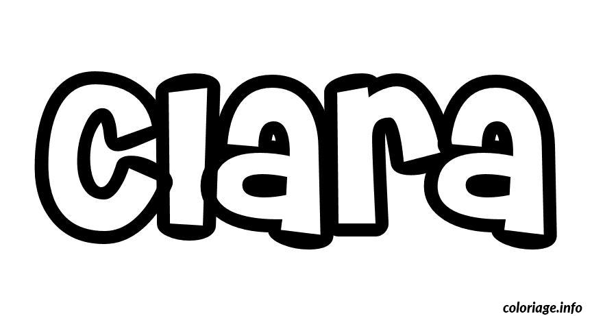 Coloriage clara dessin - Coloriage prenom tag ...
