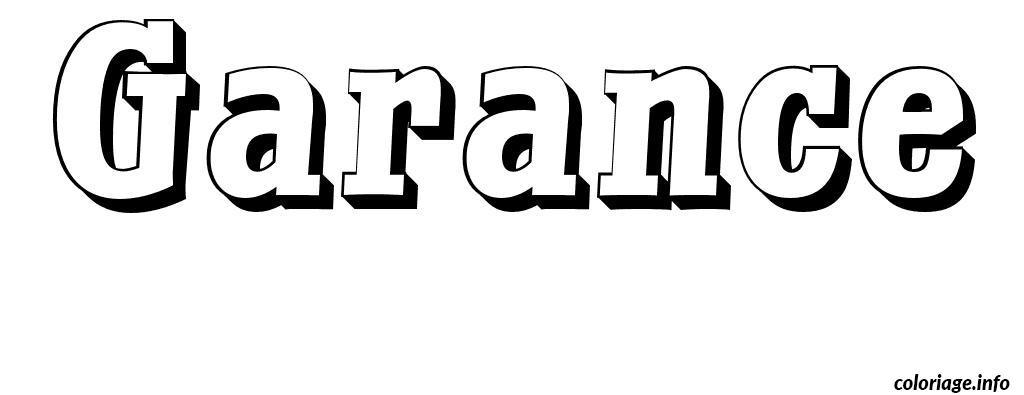 Coloriage garance dessin - Garance prenom ...