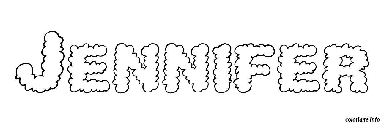 Coloriage jennifer dessin - Prenom a imprimer ...