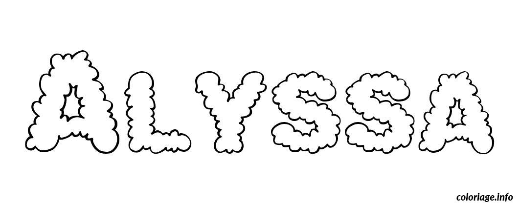 the name alyssa coloring pages - photo#26