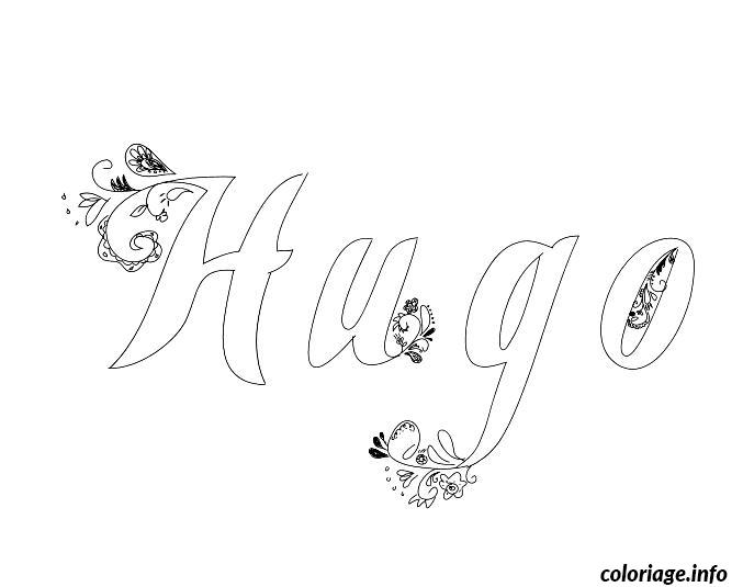 Coloriage hugo dessin - Prenom en dessin ...