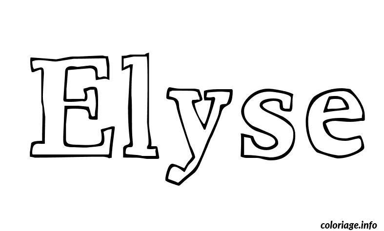 Coloriage elyse - Prenom a imprimer ...
