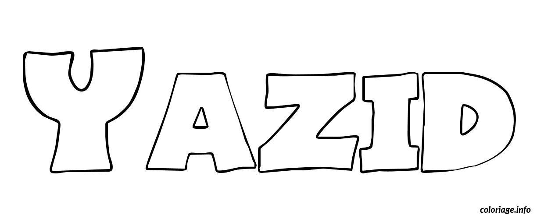 Dessin Yazid Coloriage Gratuit à Imprimer