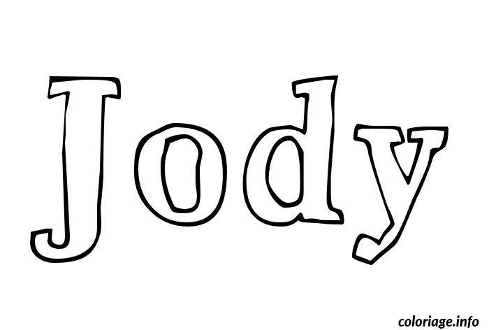 Dessin Jody Coloriage Gratuit à Imprimer