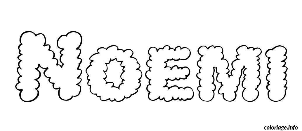 Coloriage noemi dessin - Prenom en dessin ...