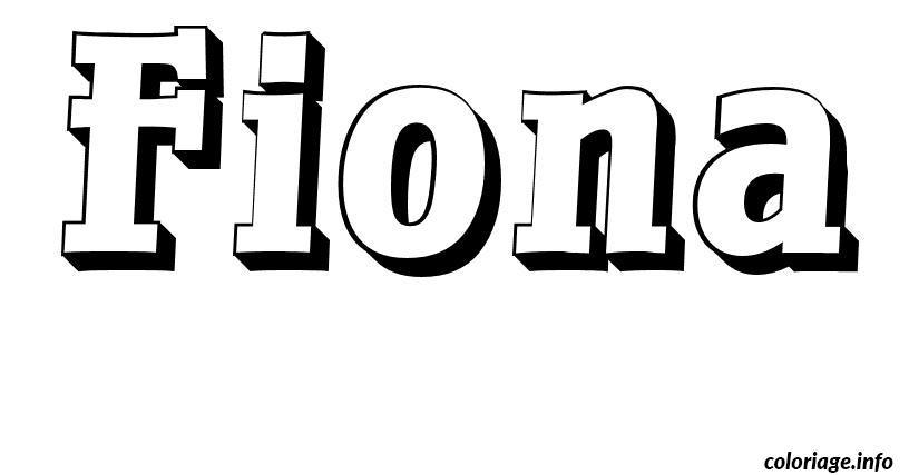 Coloriage fiona dessin - Prenom en dessin ...