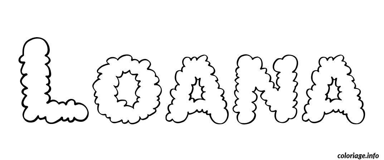 Coloriage loana dessin - Tag prenom gratuit ...