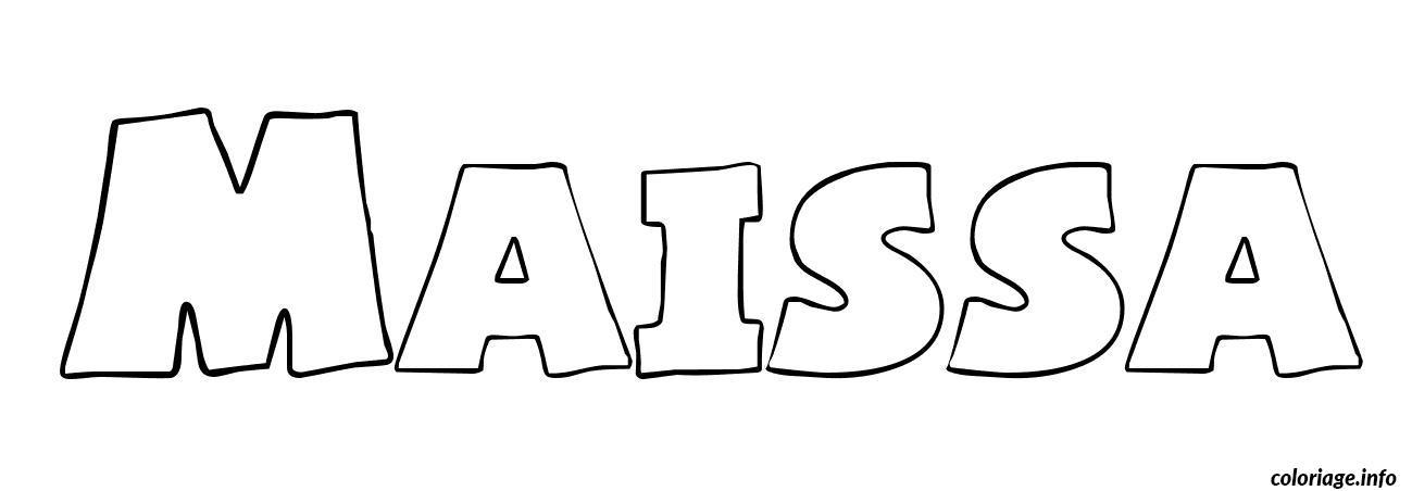Coloriage maissa dessin - Prenom en dessin ...
