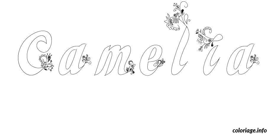 Coloriage camelia - Camelia prenom ...