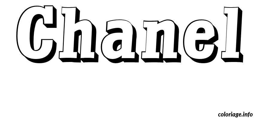 Coloriage chanel dessin - Graffiti prenom gratuit ...