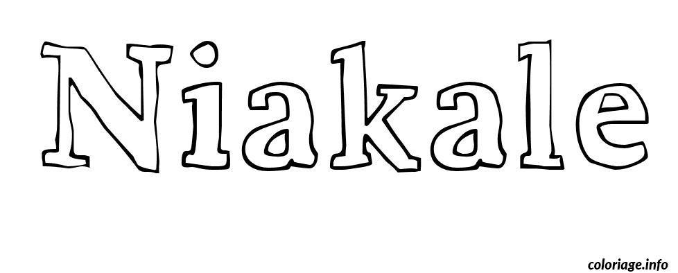 Dessin Niakale Coloriage Gratuit à Imprimer