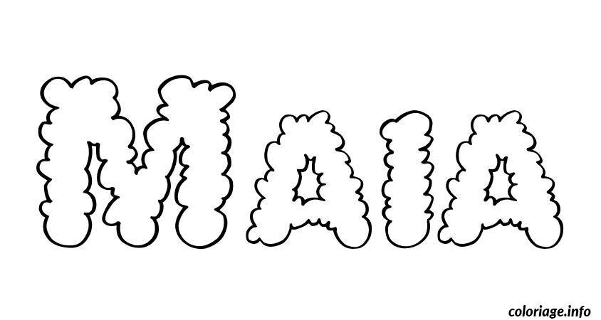 Coloriage maia - Prenom a imprimer ...