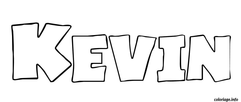 Coloriage kevin - Prenom a imprimer ...