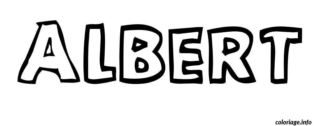 Dessin Albert Coloriage Gratuit à Imprimer