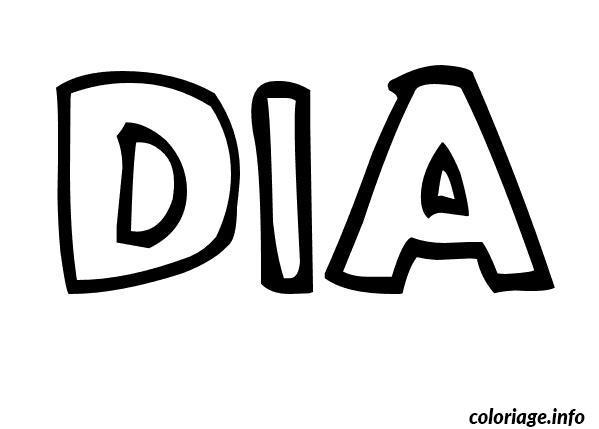 Dessin Dia Coloriage Gratuit à Imprimer
