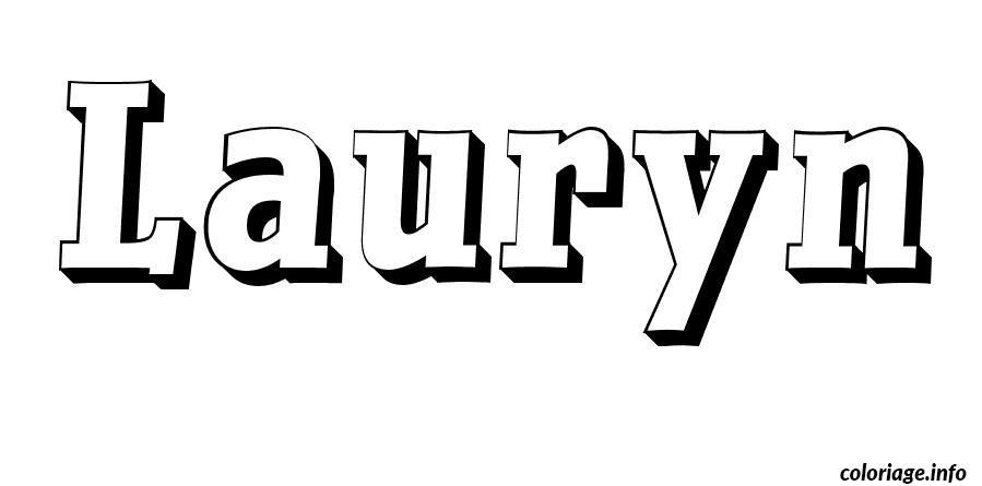 Dessin Lauryn Coloriage Gratuit à Imprimer