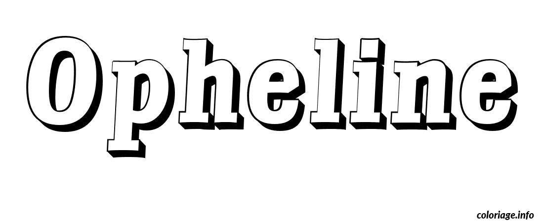 Dessin Opheline Coloriage Gratuit à Imprimer