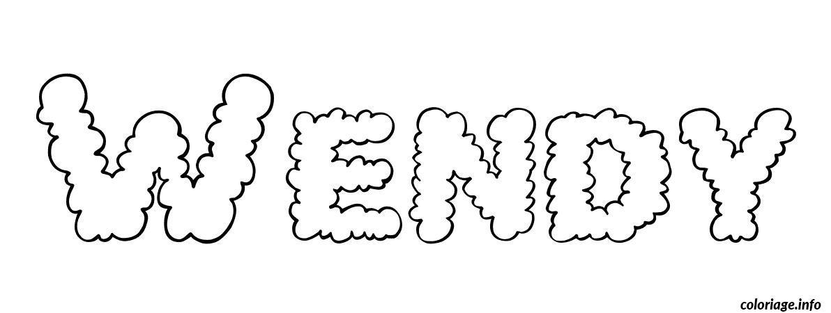 Coloriage wendy dessin - Prenom dessin ...