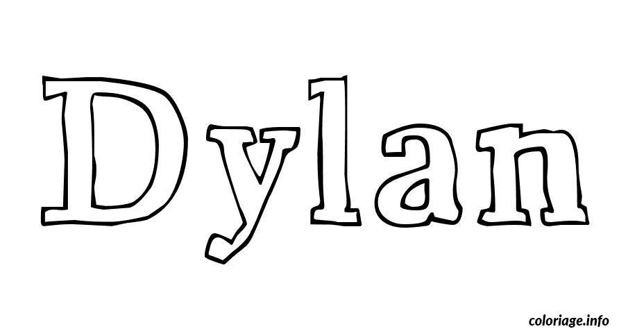Coloriage dylan dessin - Coloriage prenom tag ...