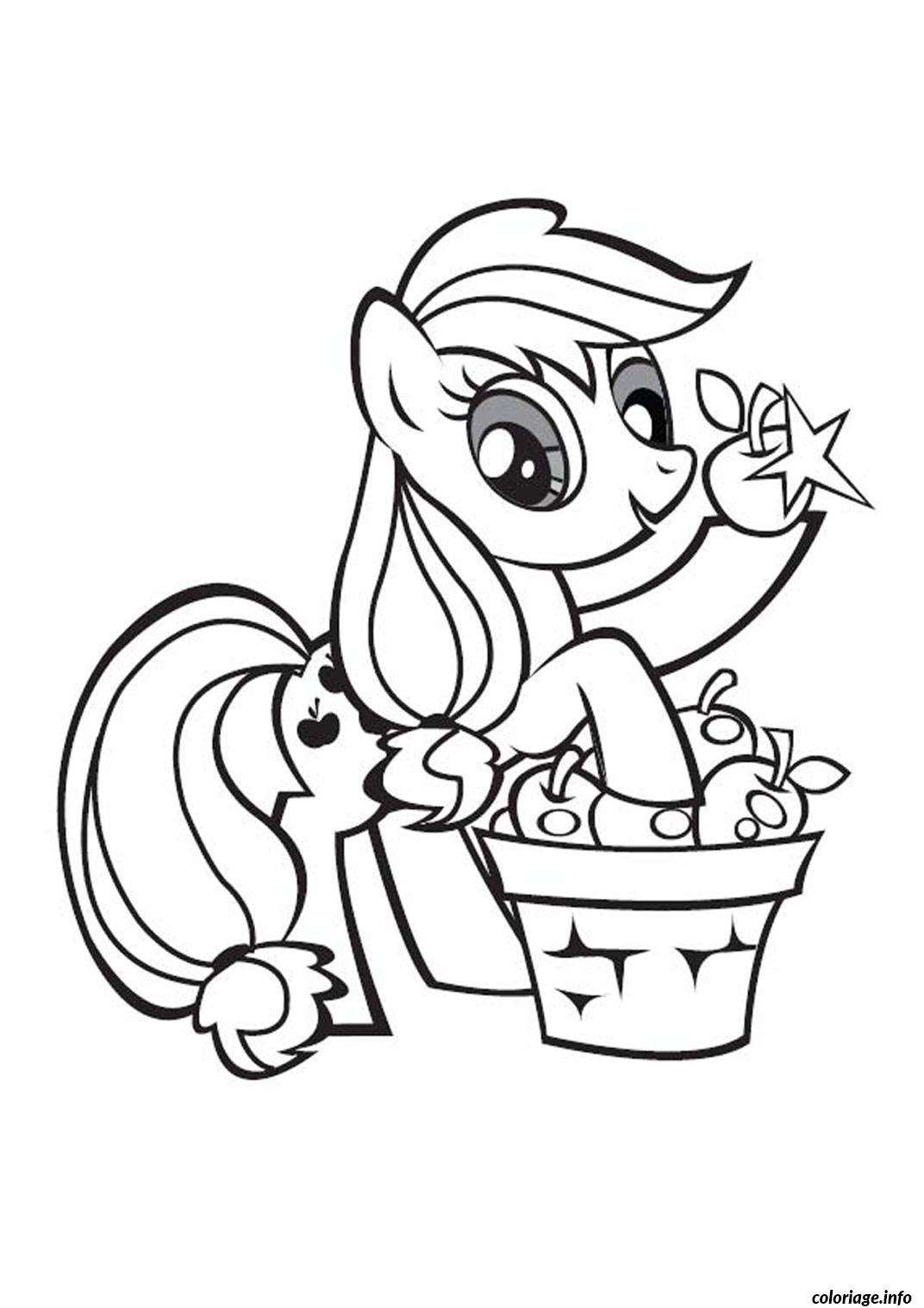 Dessin my little poney 9 Coloriage Gratuit à Imprimer
