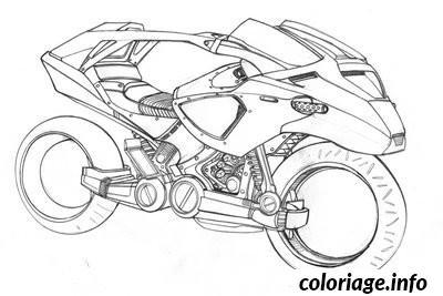 Dessin batman moto Coloriage Gratuit à Imprimer