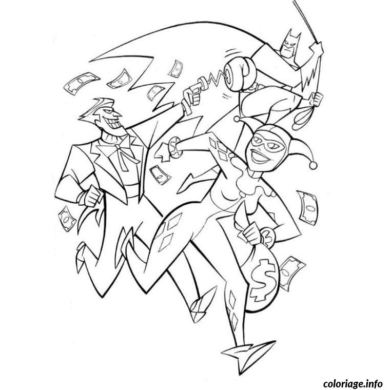 Coloriage batman joker dessin - Coloriage a imprimer batman ...