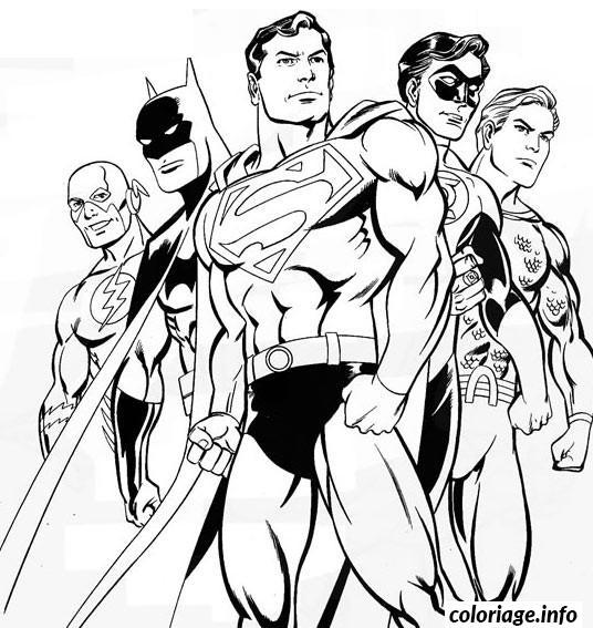 Dessin batman superman Coloriage Gratuit à Imprimer