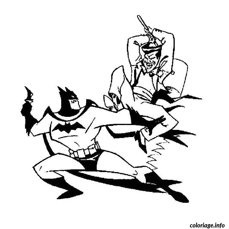 Dessin batman et joker Coloriage Gratuit à Imprimer