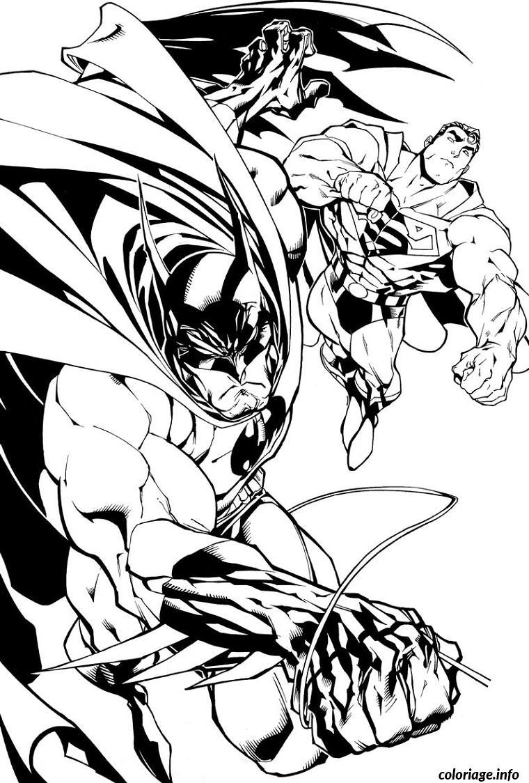 Dessin batman et superman Coloriage Gratuit à Imprimer