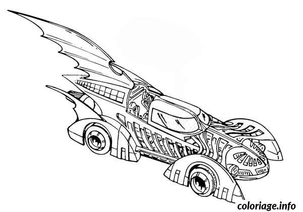 Dessin dessin voiture batman Coloriage Gratuit à Imprimer