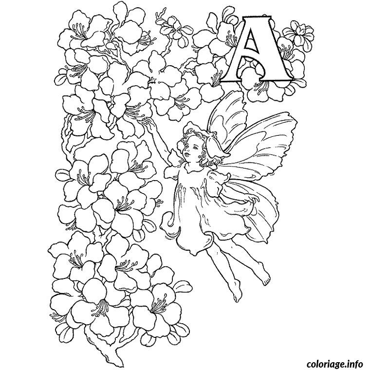 Coloriage fee alphabet - Alphabet dessin ...