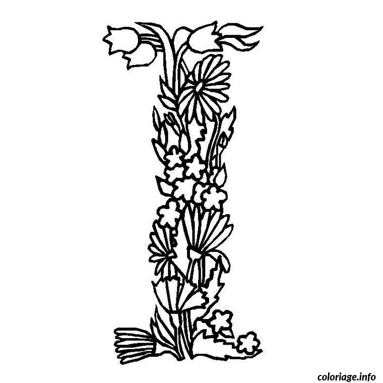 Coloriage alphabet fleur dessin - Fleurs a colorier ...