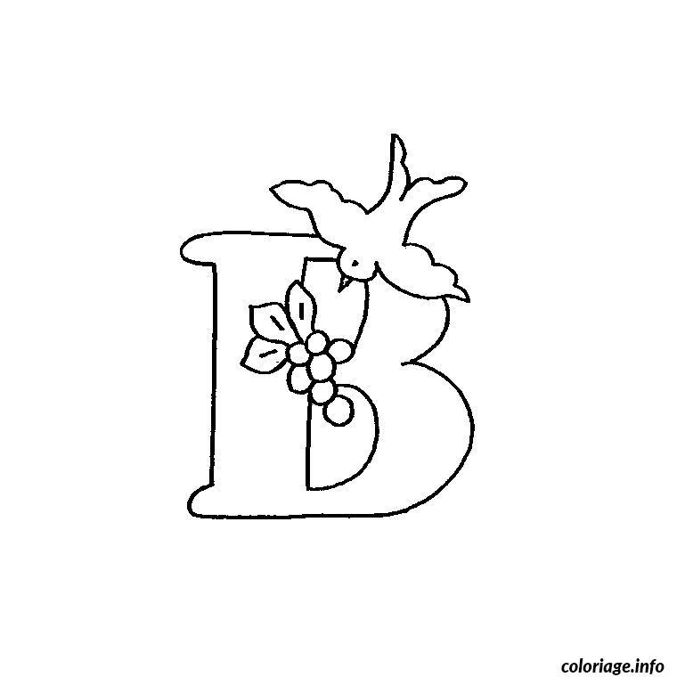 Coloriage lettre b - Dessin lettre a ...