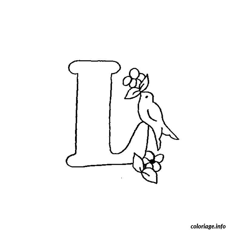 Coloriage lettre l - Dessin lettre a ...