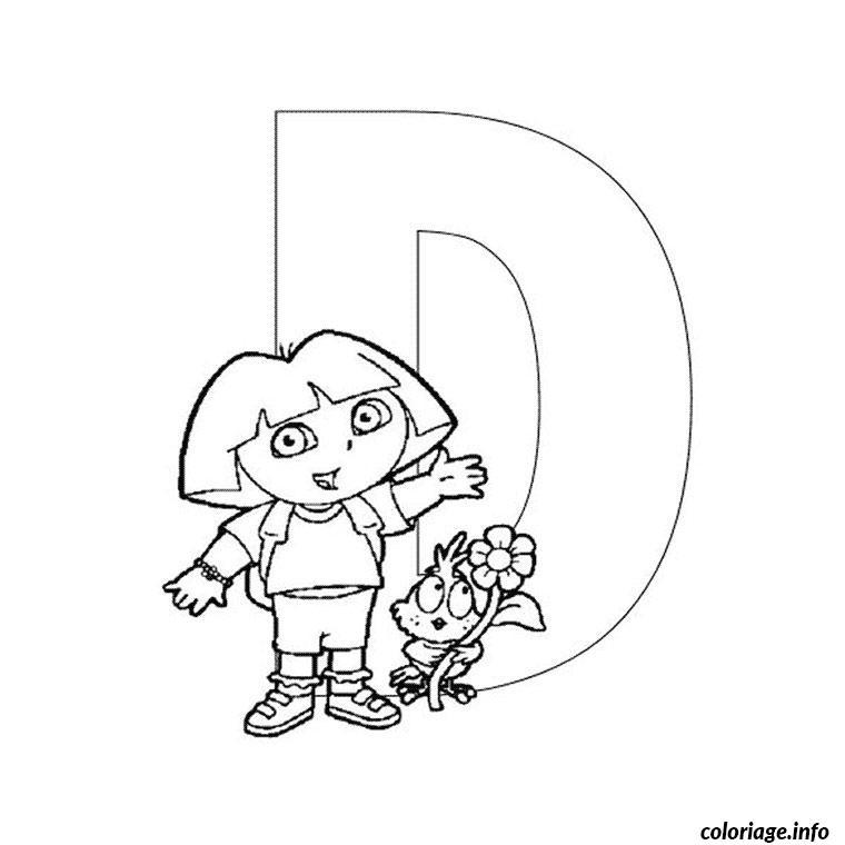 Coloriage Dora Alphabet dessin