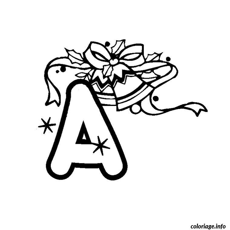 Coloriage Lettre A dessin