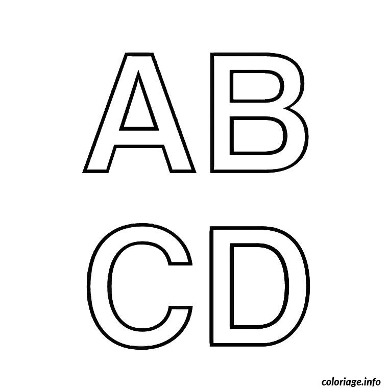 Coloriage alphabet pedagogique dessin - Grande lettre alphabet a imprimer ...