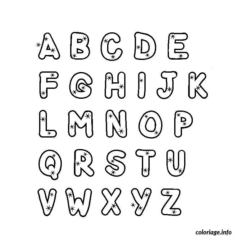 Coloriage alphabet majuscule dessin - Dessin lettres alphabet ...