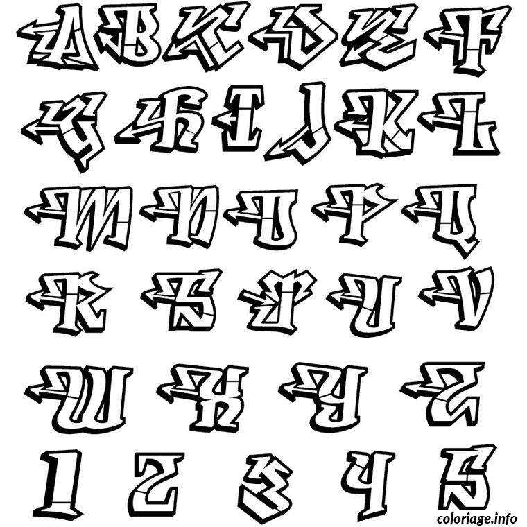 Coloriage Lettres De L Alphabet Dessin