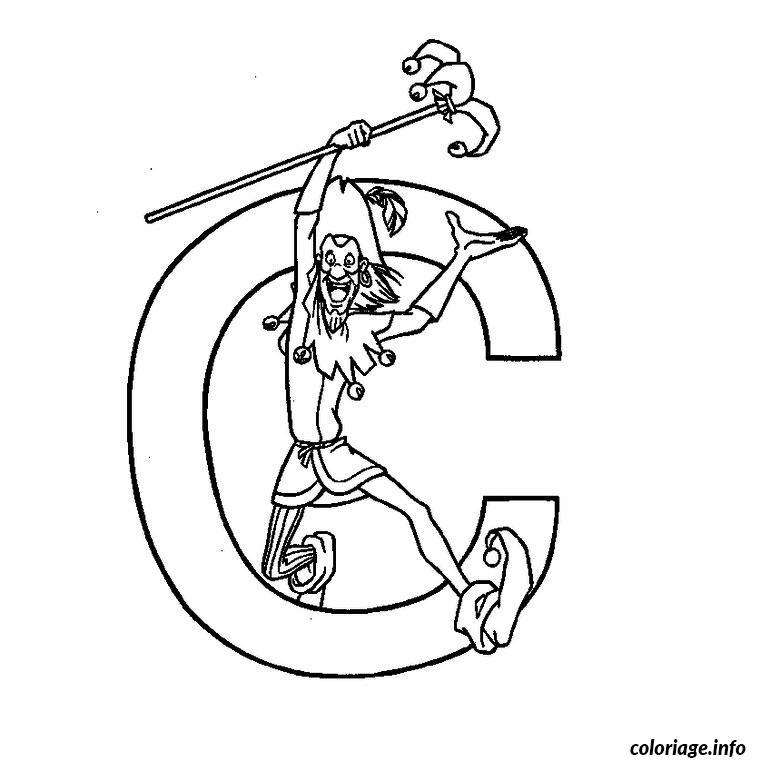 Coloriage lettre c dessin - Dessin lettre a ...