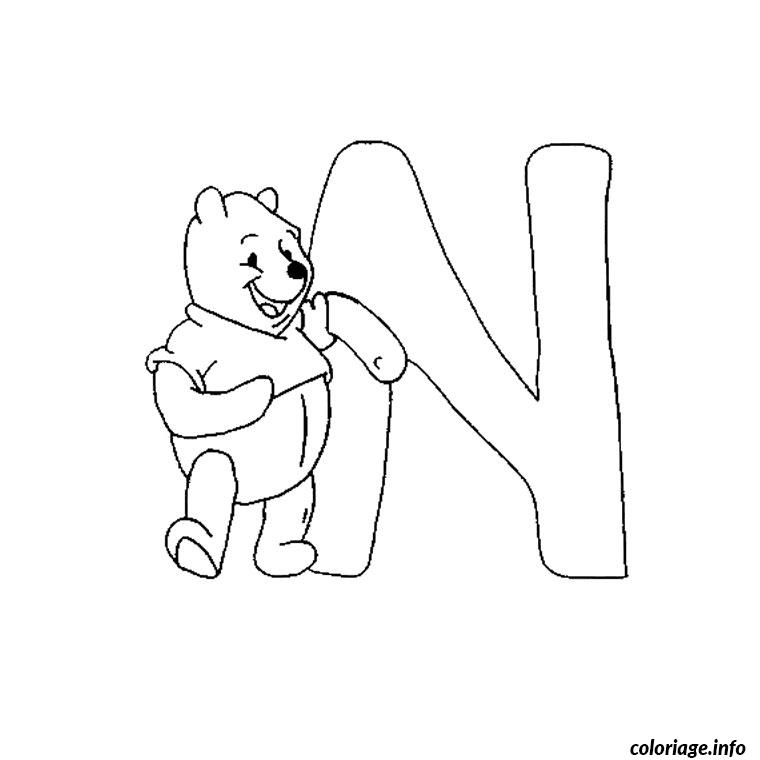Coloriage Winnie L Ourson Alphabet Jecolorie Com