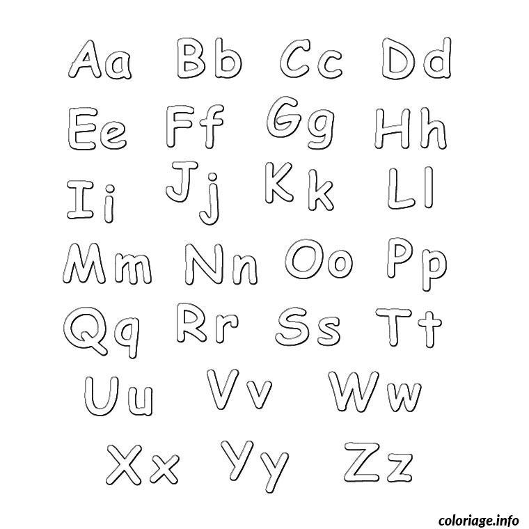 Coloriage lettre de l alphabet - Lettres a imprimer ...